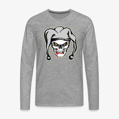 Camiseta Cráneo Joker - Camiseta de manga larga premium hombre