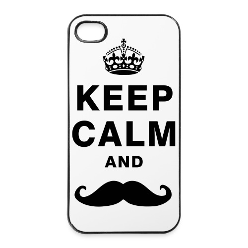 Keep Calm and Moustache - iPhone 4/4s Hard Case