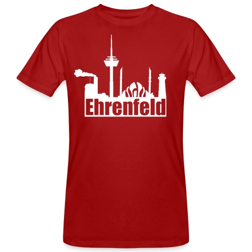 Ehrenfeld in rot - organic - Männer Bio-T-Shirt