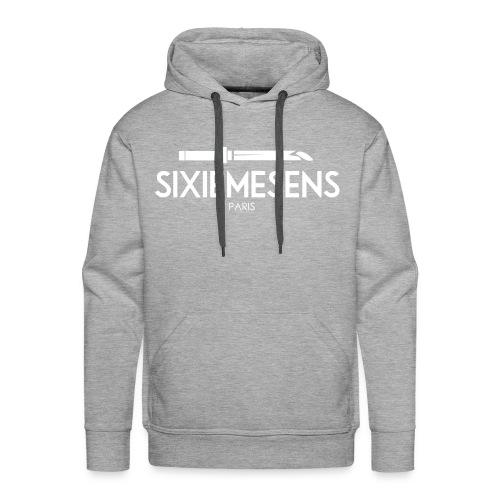 SIXIEMESENS PARIS SPADE WHITE/GREY HOODIE - Sweat-shirt à capuche Premium pour hommes