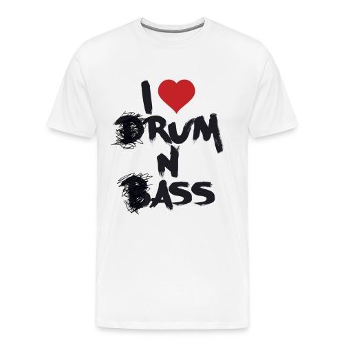 I Love (D)Rum and (B)Ass - T-shirt Premium Homme