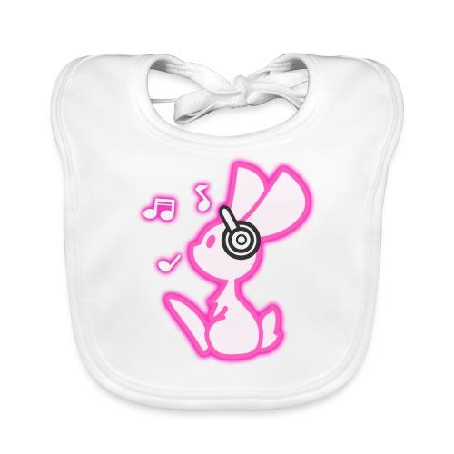 Leuchtendes Musik Häschen - Baby Bio-Lätzchen