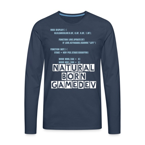Natural Born GameDev - Men's Premium Longsleeve Shirt