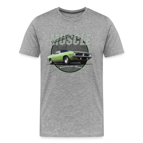 Men's Premium T-Shirt Plymouth Barracuda | Classic American Automotive  - Men's Premium T-Shirt