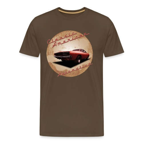 Men's Premium T-Shirt Dodge Charger | Classic American Automotive  - Men's Premium T-Shirt