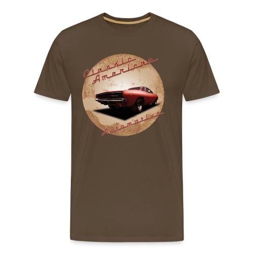 Men's Premium T-Shirt Dodge Charger | Classic American Automotive  - Men's Premium T-Shirt