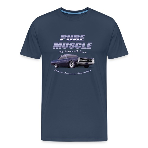 Men's Premium T-Shirt Plymouth Fury | Classic American Automotive  - Men's Premium T-Shirt