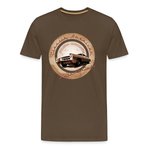 Men's Premium T-Shirt Pontiac Bonneville | Classic American Automotive  - Men's Premium T-Shirt