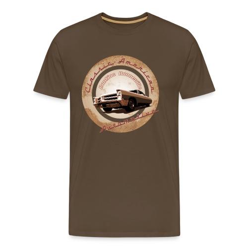 Men's Premium T-Shirt Pontiac Bonneville | Classic American Automotive  - Men's Premium T-Shirt