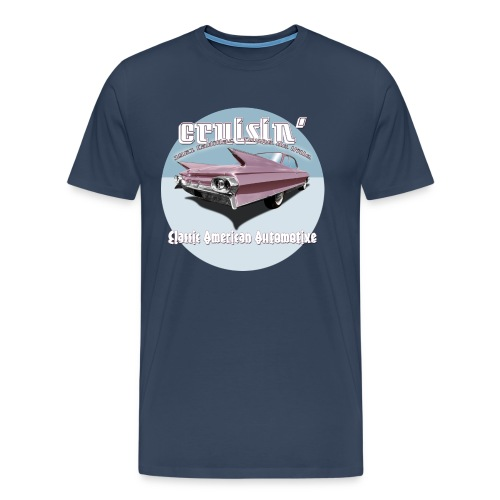 Men's Premium T-Shirt Pink Cadillac | Classic American Automotive - Men's Premium T-Shirt