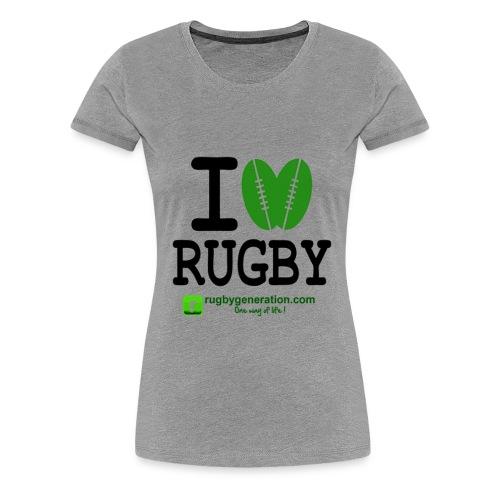 Tee-shirt Femmes I Love Rugby - T-shirt Premium Femme