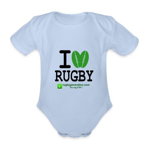 Body bébé I Love Rugby - Body bébé bio manches courtes