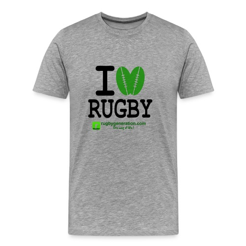 Tee-shirt Homme I Love Rugby - T-shirt Premium Homme