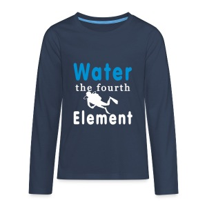 Water the fourth Element - Teenager Premium Langarmshirt