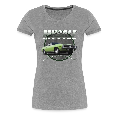Women's Premium T-Shirt Plymouth Barracuda | Classic American Automotive - Women's Premium T-Shirt