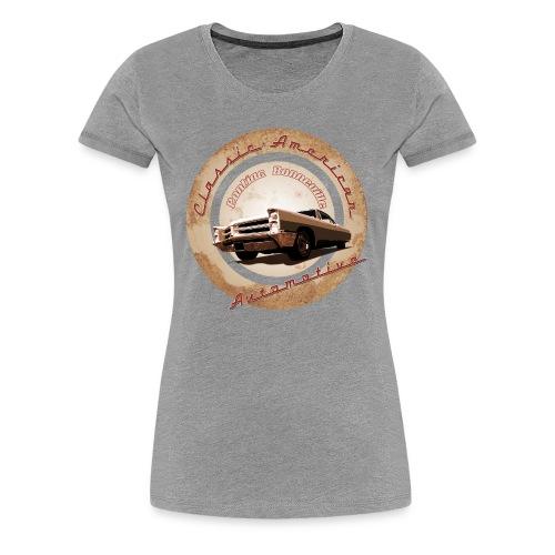 Women's Premium T-Shirt Pontiac Bonneville | Classic American Automotive  - Women's Premium T-Shirt