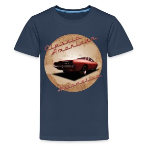 Teenage Premium T-Shirt Dodge Charger | Classic American Automotive  - Teenage Premium T-Shirt