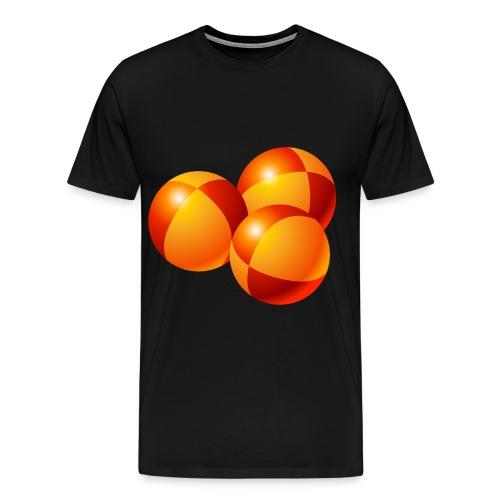 Men's Premium T-Shirt - passing cascade. balls,juggling,jugglers,juggle,clubs