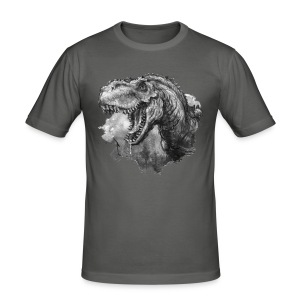 T-rex Portrait - Männer Slim Fit T-Shirt
