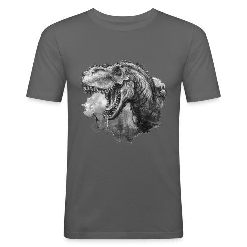 T-rex Portrait - Männer Slim Fit T-Shirt