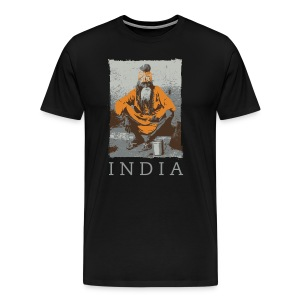 Sadhu - Indian holy man & India text - Men's Premium T-Shirt