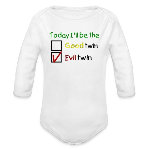 Långärmad baby body Good or Bad - Ekologisk långärmad babybody