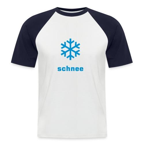 Schnee-Warnung - Männer Baseball-T-Shirt