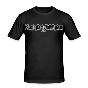 #PlayingKerbyWithMyGran (Mens) - Men's Slim Fit T-Shirt