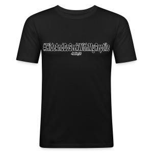 #HideAndGoSeekWithMyReptile (Mens) - Men's Slim Fit T-Shirt