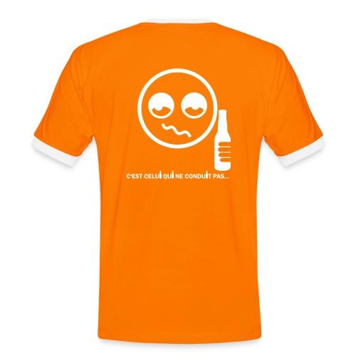 Bob, c'est celui qui ne conduit pas... ;) (H/O&W) - T-shirt contrasté Homme