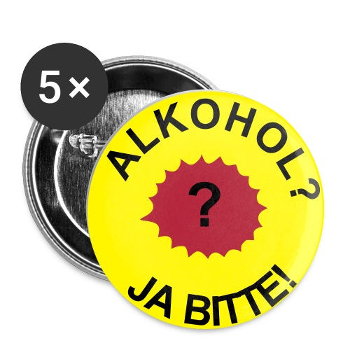 Alkohol Button - Buttons mittel 32 mm (5er Pack)