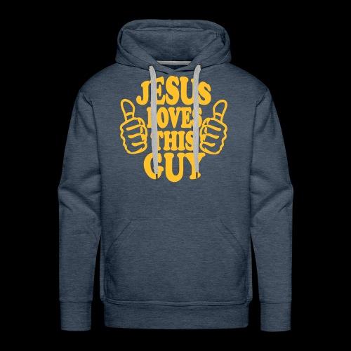JESUS LOVES THIS GUY - Men's Premium Hoodie