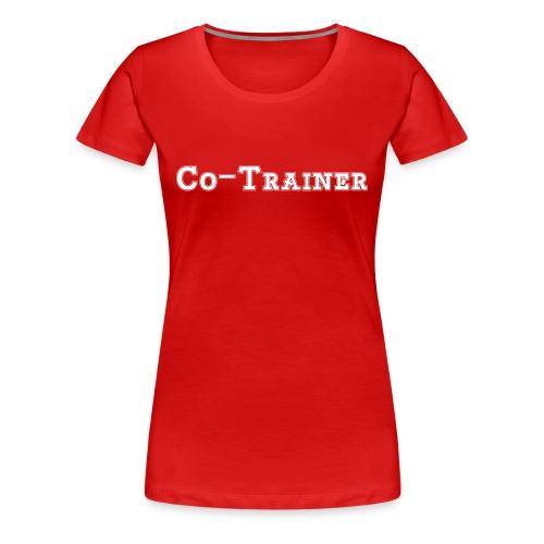 Co-Trainer, Rot - Frauen Premium T-Shirt