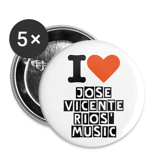 Chapas I love - Chapa mediana 32 mm