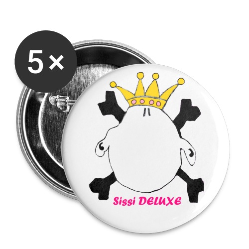 SIssI DELUXE - Buttons 32mm - Buttons mittel 32 mm (5er Pack)
