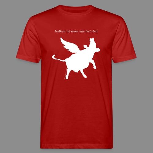 Flugkuh - Männer Bio-T-Shirt