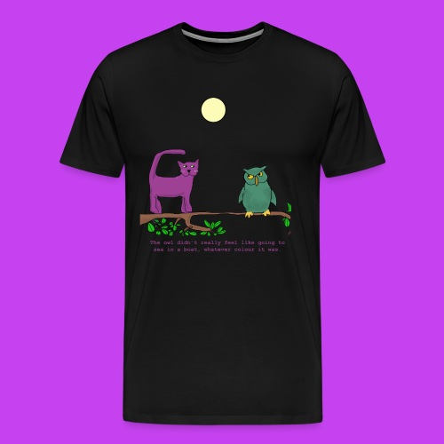 The Owl and the Purple Cat - Men's Premium T-Shirt