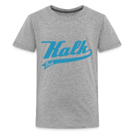 T-Shirts ~ Teenager Premium T-Shirt ~ Flockdruck hellblau Classic