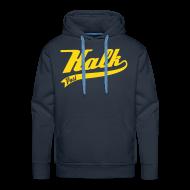 Pullover & Hoodies ~ Männer Premium Kapuzenpullover ~ Flockdruck gelb Classic