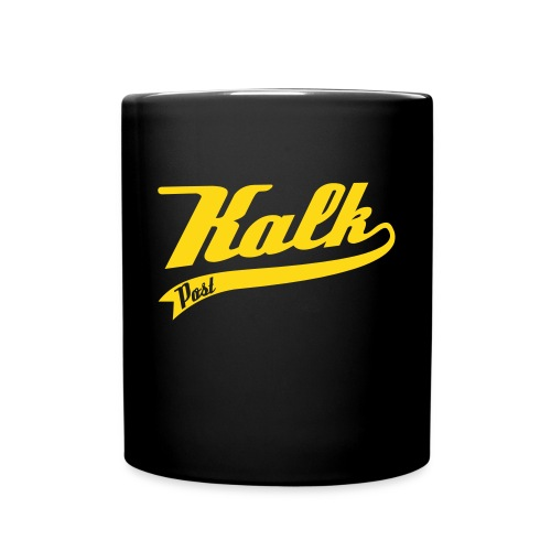 Weisse Tasse mit Kalk Post Classic gelb - Tasse einfarbig