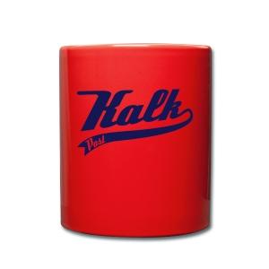 Rote Tasse mit Kalk Post Classic blau - Tasse einfarbig