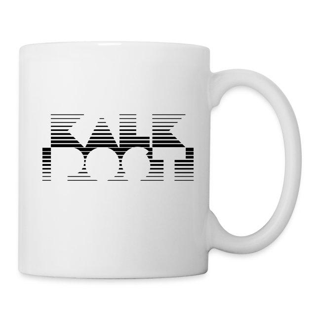 Weisse Tasse mit Kalk Post Vice schwarz