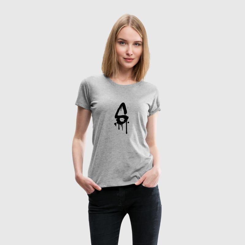 S graffiti drops Farbklex spray T-Shirts - Women's Premium T-Shirt