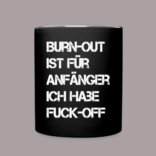 Statement-Tasse Burnout - Tasse einfarbig