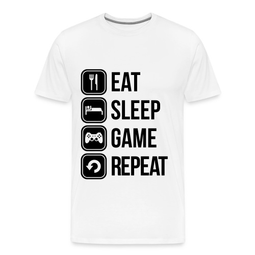 Eat, Sleep, Game, Repeat! - Maglietta Premium da uomo