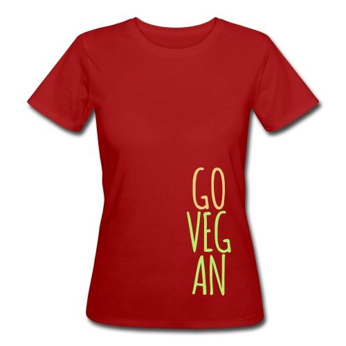 Go Vegan - Frauen Bio-T-Shirt