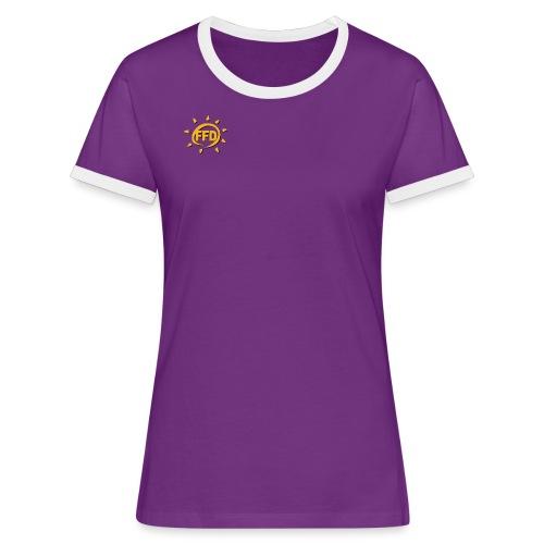Der Klassiker für das weibliche Geschlecht - Frauen Kontrast-T-Shirt