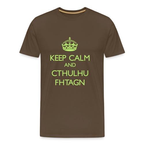 Keep Calm and Cthulhu Fhtagn - Men's Premium T-Shirt