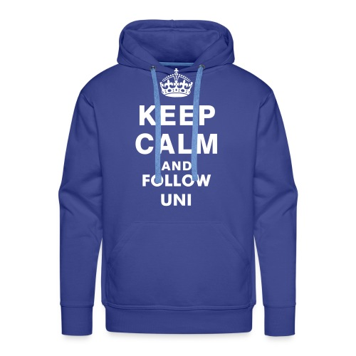 KEEP CALM AND FOLLOW UNI! - Felpa con cappuccio premium da uomo