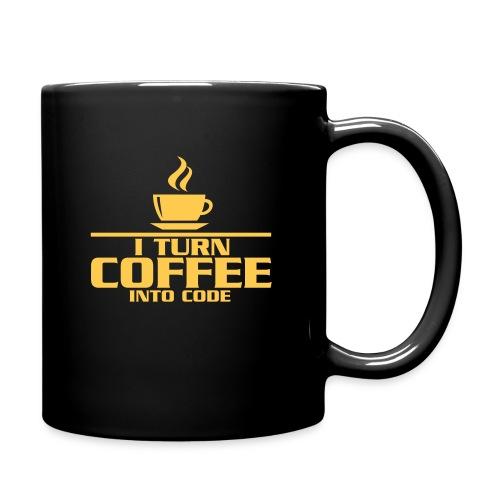 + I turn coffee into code - mug - Full Colour Mug